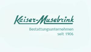 Logo - Bestattungen Kaiser-Musebrink in Duisburg